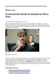 Markus Lanz Erschreckende Details im Skandal um Harry Wörz