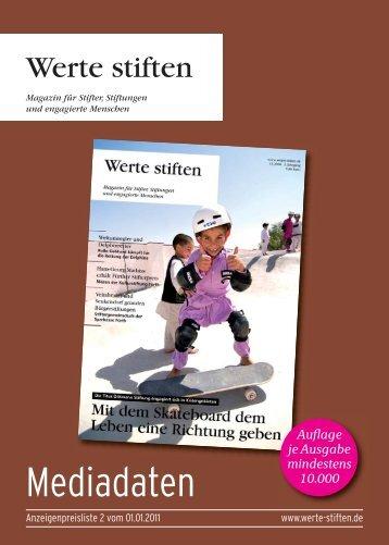 Anzeigenpreisliste (PDF, 393KB) - Werte Stiften