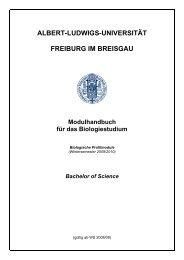 Modulbeschreibungen Biologische Profilmodule (WS 2009/2010)