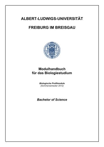 Modulbeschreibungen Biologische Profilmodule (SS 2012)