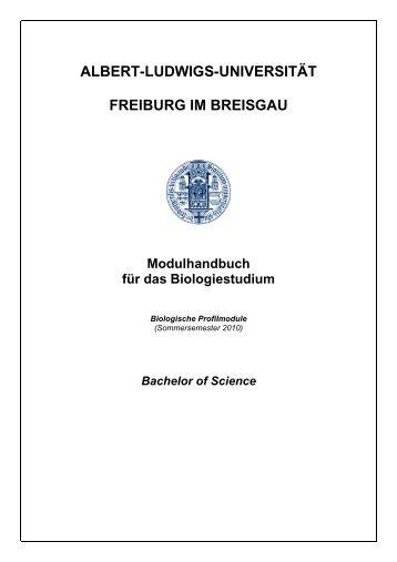 Modulbeschreibungen Biologische Profilmodule (SS 2010)