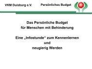 Persönliches Budget - Vivare – die Duisburger Gesundheitsmesse