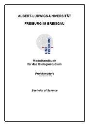Modulbeschreibungen Projektmodule (SS 2012) - Albert-Ludwigs ...