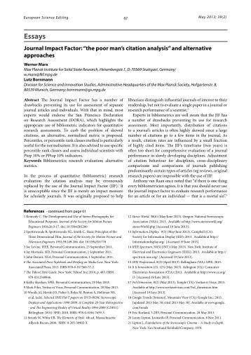 citation analysis dissertation