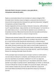 Descarcati varianta pdf a comunicatului de ... - Schneider Electric