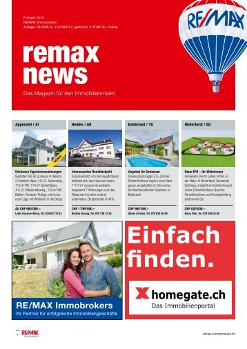 REMAX Immobrokers News - Das Magazin für den Immobilienmarkt
