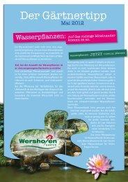 Gärtnertipp als Pdf zum Download - Wershofen Gartenbau