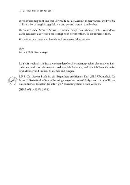 Das NLP-Praxisbuch für Lehrer