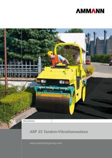 ARP 35 Tandem-Vibrationswalzen