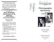 PCC Photography Workshop - Nov 10, 2012 - Peoria Camera Club
