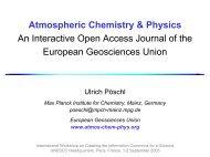 Interactive Open Access Journal of the European Geosciences Union