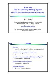Why & how shall open access publishing improve scientific ...