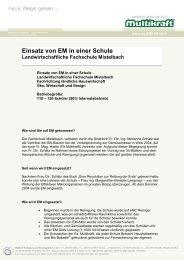 Einsatz von EM in einer Schule Landwirtschaftliche ... - Multikraft