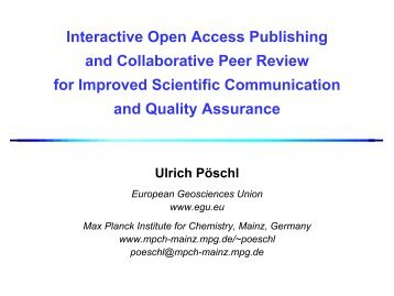 Interactive Open Access Publishing & Collaborative Peer Review for ...