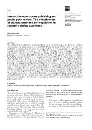 Interactive open access publishing and public peer review: The ...