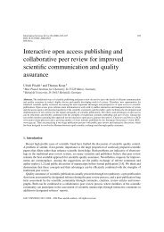 Interactive open access publishing and collaborative peer review for ...