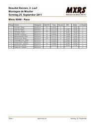 Montagne de Moutier Resultat Rennen, 2. Lauf Sonntag 25 ... - MXRS