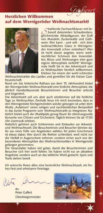 Wernigeröder Schloßbahn Tel. (0  39 43) - Stadt Wernigerode