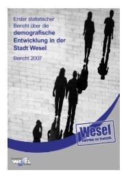 Erster statistischer Bericht über die demografische ... - Wesel