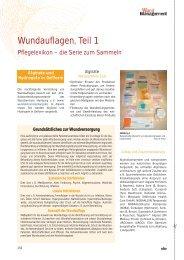Wundauflagen, Teil 1 - Werner Sellmer