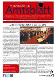 Amtsblatt Stadt Wernigerode  01 - 2012