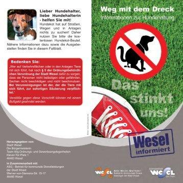 Faltblatt zum Thema Hundekot-Beutel (789 KB ) - Wesel