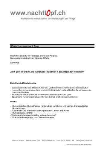 Offerte 2 Tage pdf - Nachttopf.ch
