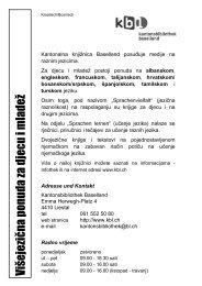 Višejezična ponuda za djecu i mladež - Kantonsbibliothek Baselland