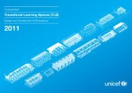 UNICEF, Compendium of Temporary Learning Spaces - Back on Track