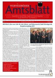 Mit Mut in das neue Jahr  für eine lebens- und ... - Stadt Wernigerode
