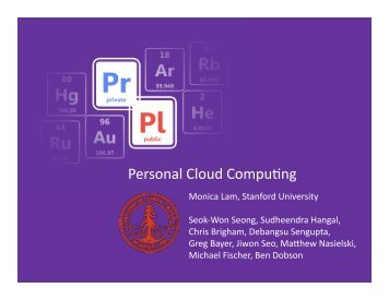 Personal Cloud Compumng - Suif - Stanford University