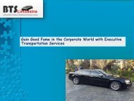 Gain Good Fame in the Corporate World with Executive Transportation Services