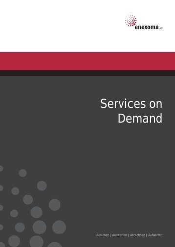 Services on Demand - enexoma AG