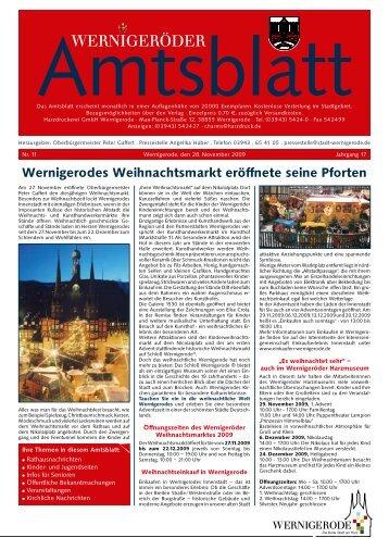 Wernigerodes Weihnachtsmarkt eröffnete seine ... - Stadt Wernigerode