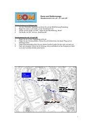 Karte und Zufahrtswege - BOM für Neuenrade und Werdohl