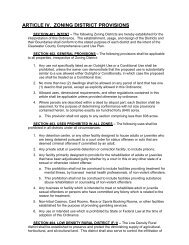 ARTICLE IV. ZONING DISTRICT PROVISIONS - Clearwater County