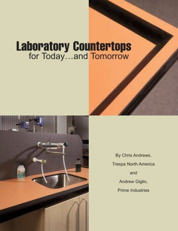 Laboratory Countertops for Today and Tomorrow - Woodwork Institute
