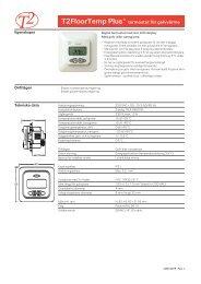 T2 FloorTemp Plus - datablad - Elot