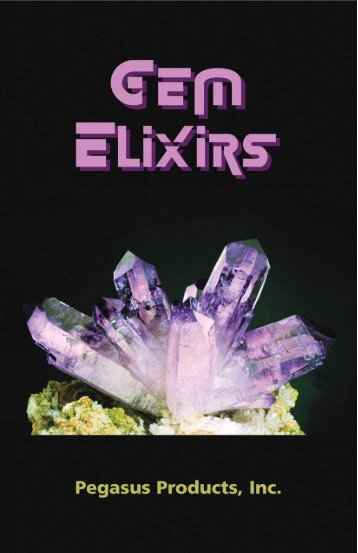 Gem Elixirs Booklet - Pegasus Products