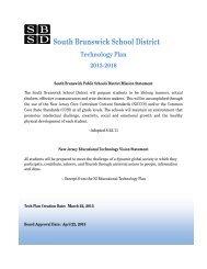 Technology Plan 2013-2016 - South Brunswick Public Schools