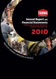 2010 TABMA Annual Report