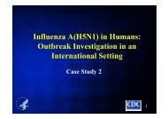 Outbreak in an International Setting