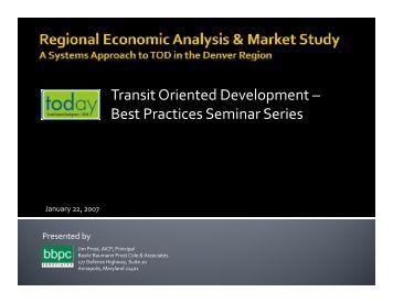 Presented - Transit-Oriented Development