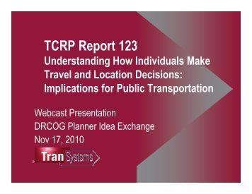 Presentation - Transit-Oriented Development