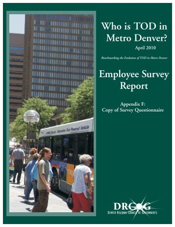 Who is TOD Employee Survey.cdr - Denver Regional Council of ...