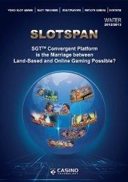 SlotSpan Winter 2012-2013 - Casino Technology