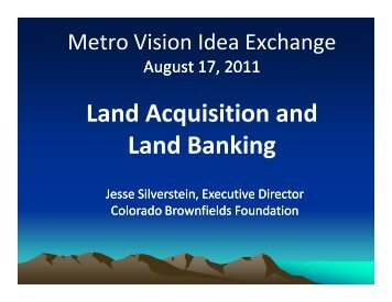 Land Acquisition and Land Banking