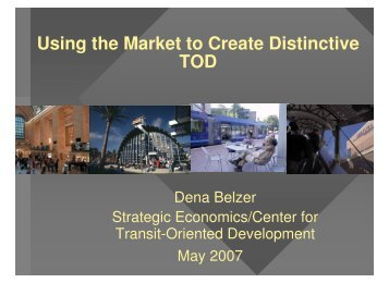 Presentation - DRCOG - Transit-Oriented Development