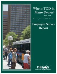 Who is TOD in Metro Denver? - Transit-Oriented Development
