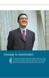 message to shareholders - SPC